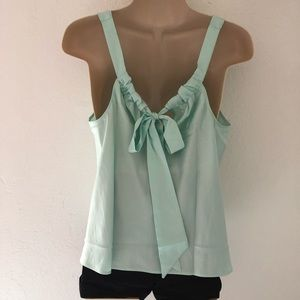 Victoria's Secret mint green bow back night tank